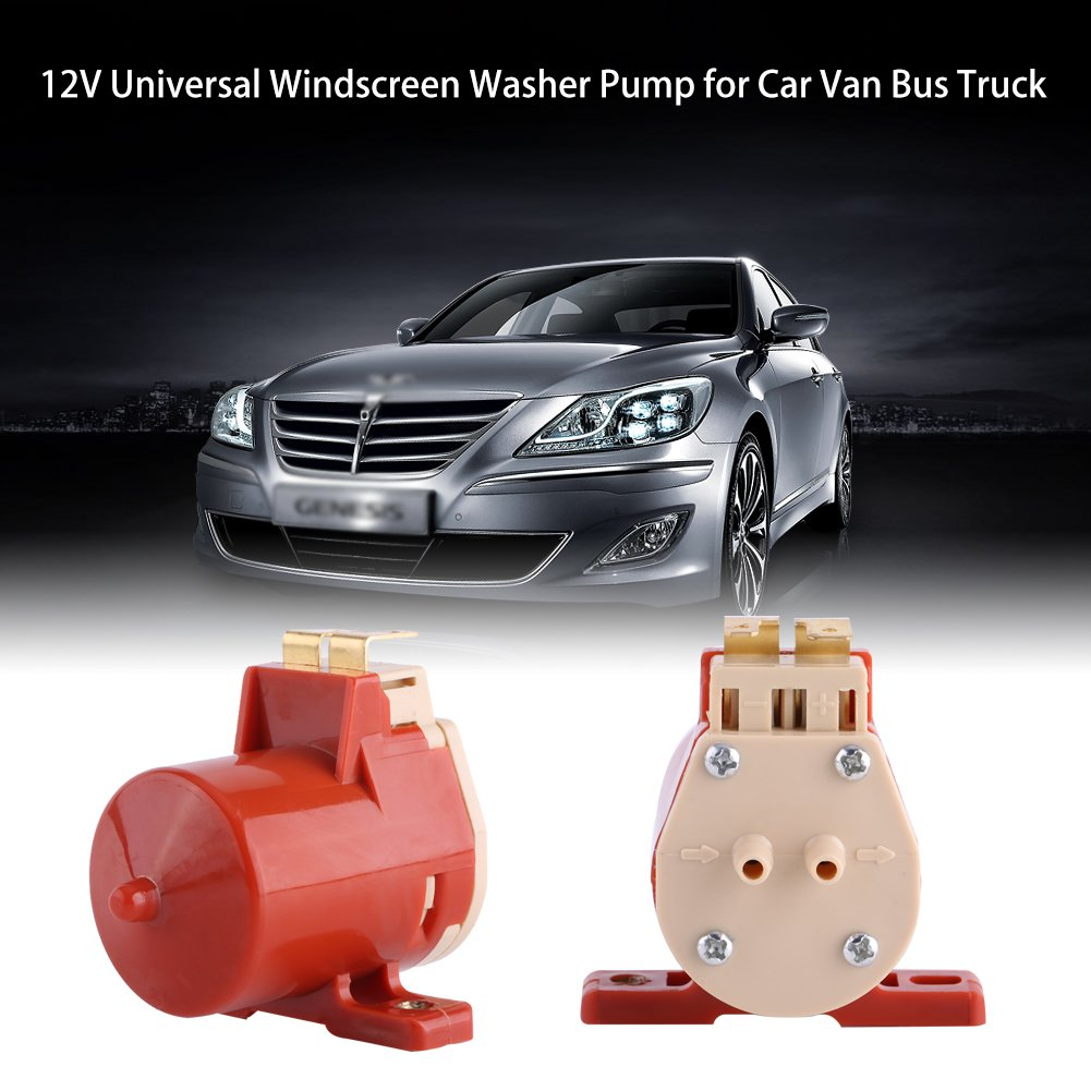 Acouto Universal Windshield Windscreen Wiper Washer Motor Pump for Car Van Bus Truck