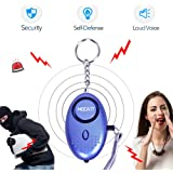 Personal Alarm Keychain Emergency Safe Sound Alarm Keychain with LED Flashlight and Siren Song, Anti