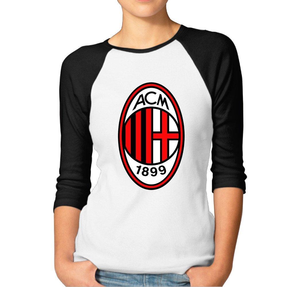 Amazon Com Women Ac Milan I Rossoneri Il Diavolo Devil 3 4 Sleeve Tshirt Books
