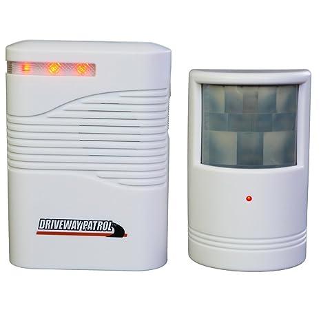Alarma con Detector de Movimiento | inalámbrico para Funcionamiento con batería, para Interior y Exterior