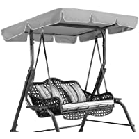 Swing Chair Seat Top Cover Waterproof Rainproof Anti-UV Dust Guard Protector Swing Canopy Top Cover Replacement for Outdoor Porch Patio Yard Garden Hammock