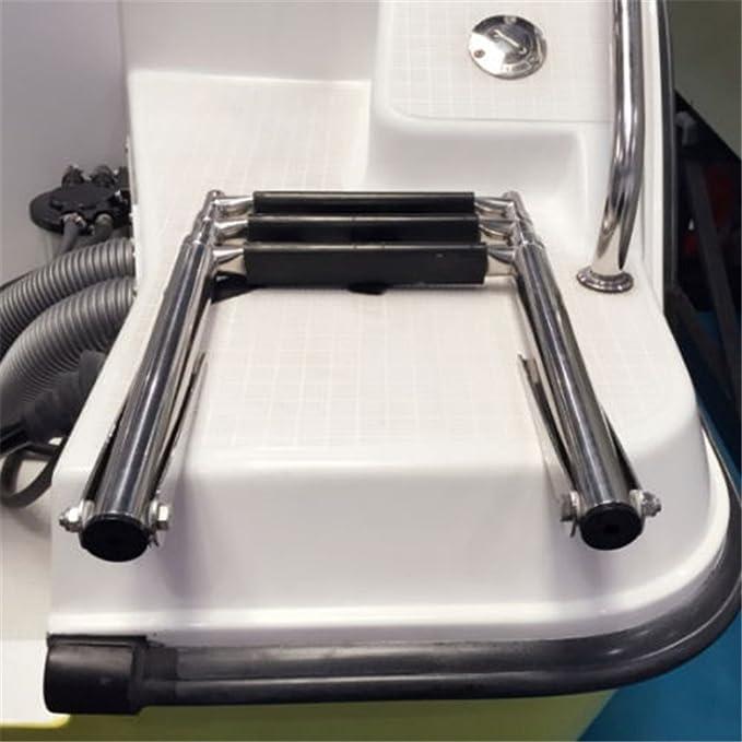 3 Steps of Ladder Boat Swim Polyethylene Inboard//Outboard Platform Stainless US
