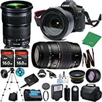 Canon EOS 5D Mark III with 24-105mm IS STM + Tamron 70-300mm AF + 2pcs 16GB Memory + Case + Reader + Tripod + ZeeTech Starter Set + Wide Angle + Telephoto + Flash + Filter