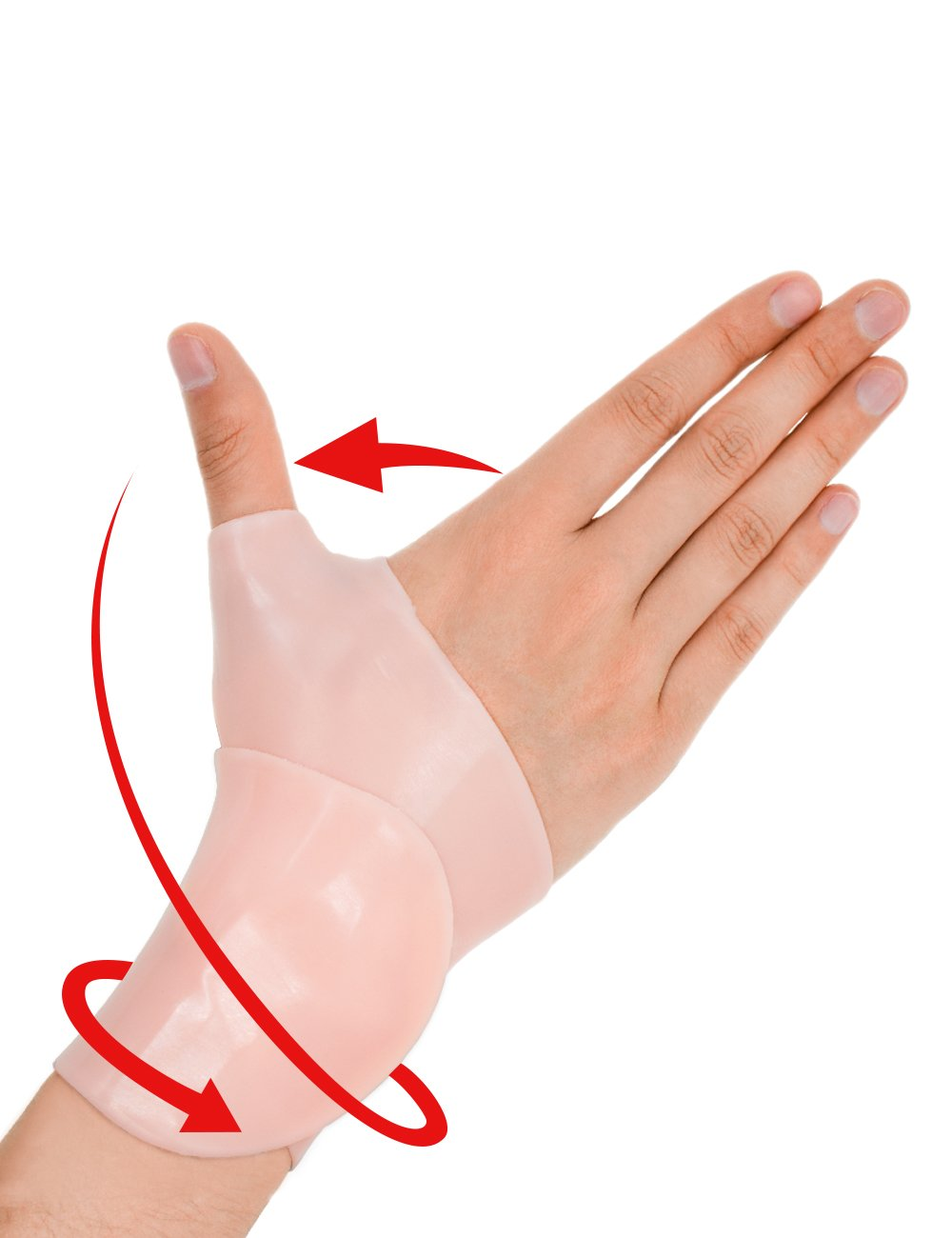 Gel Carpal Tunnel Wrist Brace - Wrist Splint Brace Support, Thumb Splintc, Adjustable Braces Suit for Everyone, Great for Tenosynovitis, Typing, Wrist & Thumb Pain, Rheumatism, Arthritis & More