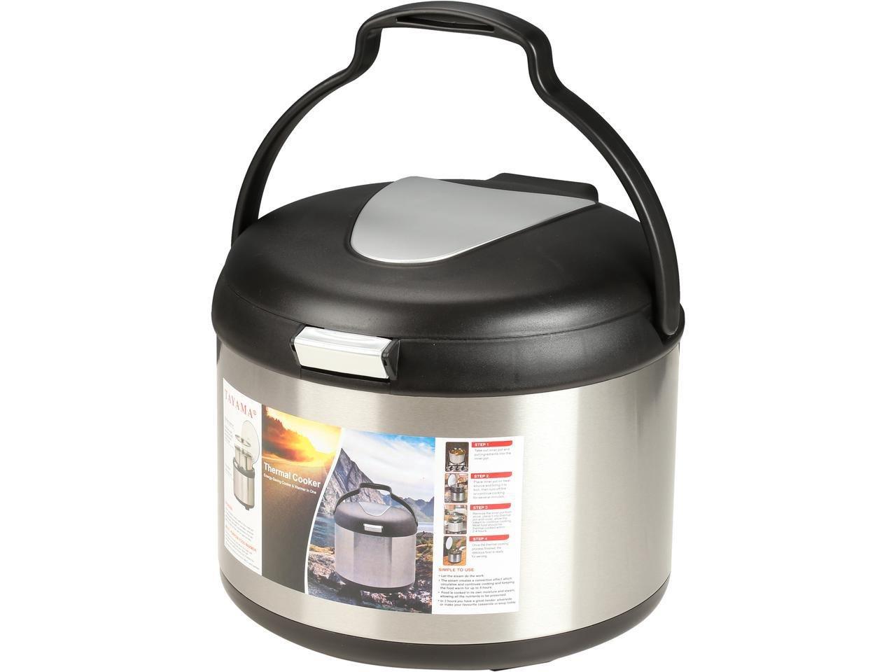 Tayama TXM-50CF Energy-Saving Thermal Cooker, 5 L, Black by TAYAMA (Image #2)