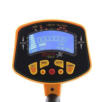 iBaste_top Detectores de Metales Detector de Metales de Alta Sensibilidad MD-3010II - 8 Pulgadas Bobina de Búsqueda Impermeable, Pantalla LCD de Objetos y ...
