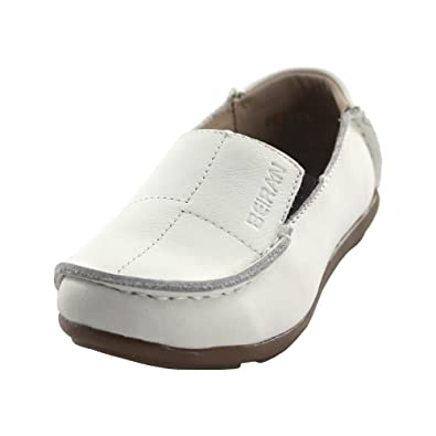 maxu Boy s Girl s Slip On Piel Mocasines Niño Pisos