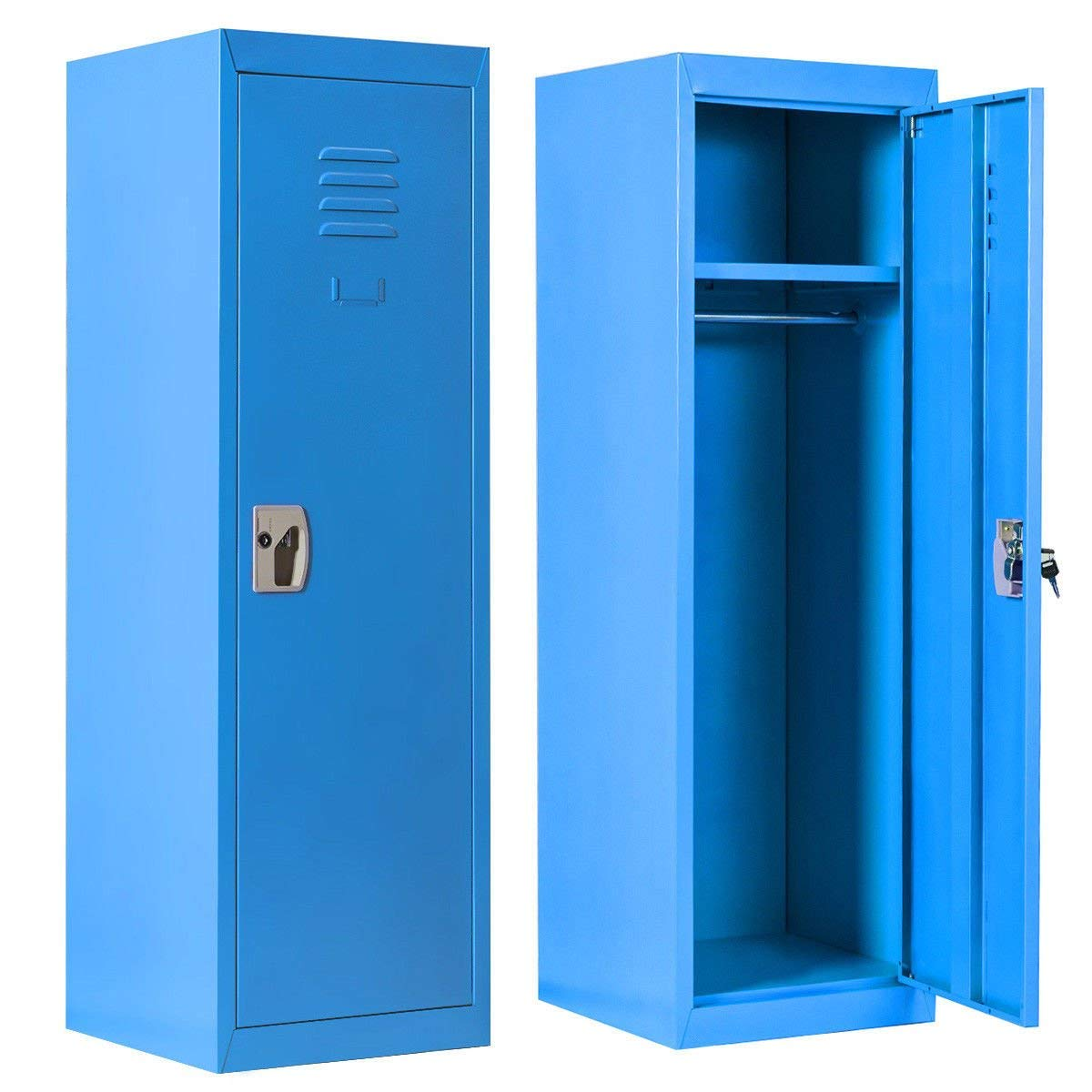 Kids Storage Locker SteelSafe Storage Kids Toy Gym Room Locker Keeper(Blue)
