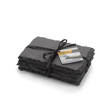 Boska Tabla de pizarra para tapas, tabla, 4 partes, bandeja, accesorios para