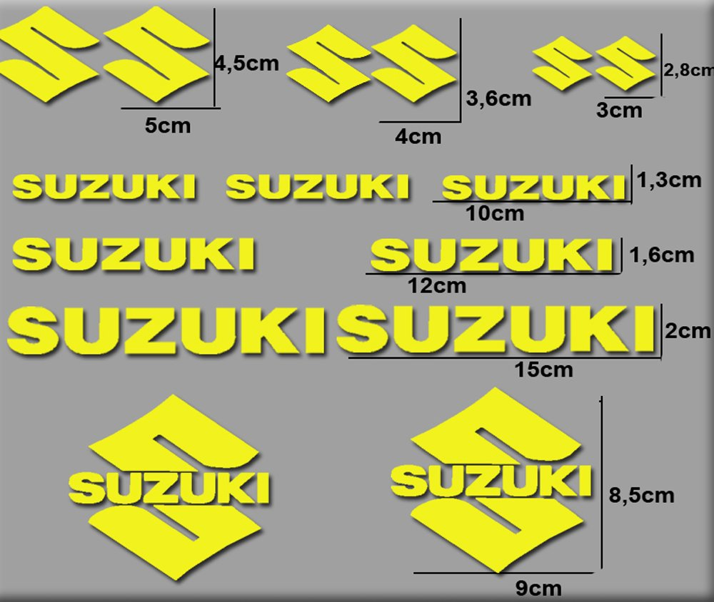 Amarillo Ecoshirt 13-U0H0-I210 Pegatinas Moto Rgsx Suzuki R169 Stickers Aufkleber Decals Autocollants Adesivi