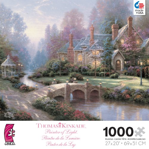 Thomas Kinkade Beyond Spring Gate 1000 Pc Puzzle