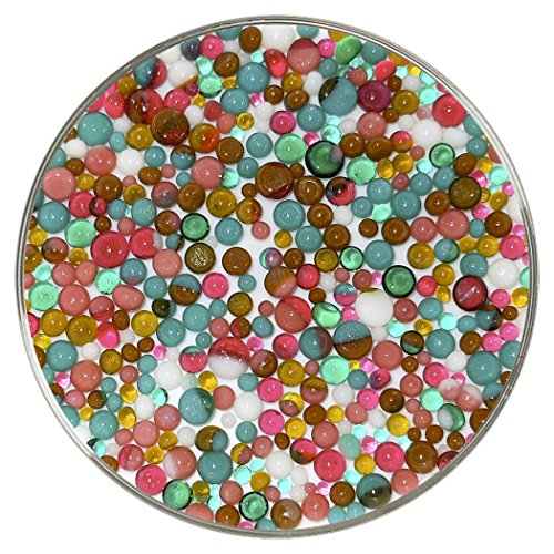 Mid-Century Modern Designer Collection Mix Frit Balls - 90COE, New Larger 1oz Size - Made from Bullseye Glass by New Hampshire Craftworks