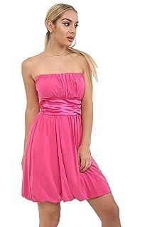 4c7c2c2ad371 Momo&Ayat Fashions Ladies Boobtube Bandeau Summer Strapless Cocktain Mini Dress  UK Size 8-14