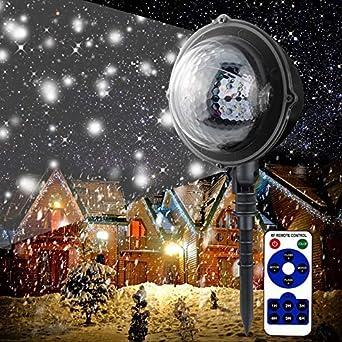 BTdahong - Proyector LED de copo de nieve para Navidad, con mando ...