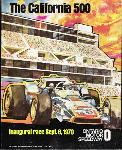 Car Indy Racing Magazine (The California 500 Inaugural Race Sept. 6, 1970: Official Magazine/Program)