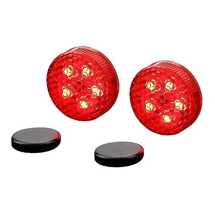 LIOOBO 2 ST/ÜCKE Autot/ür LED Warnlicht Wasserdichte LED Strobe Flicker f/ür Anti Auffahrunfall