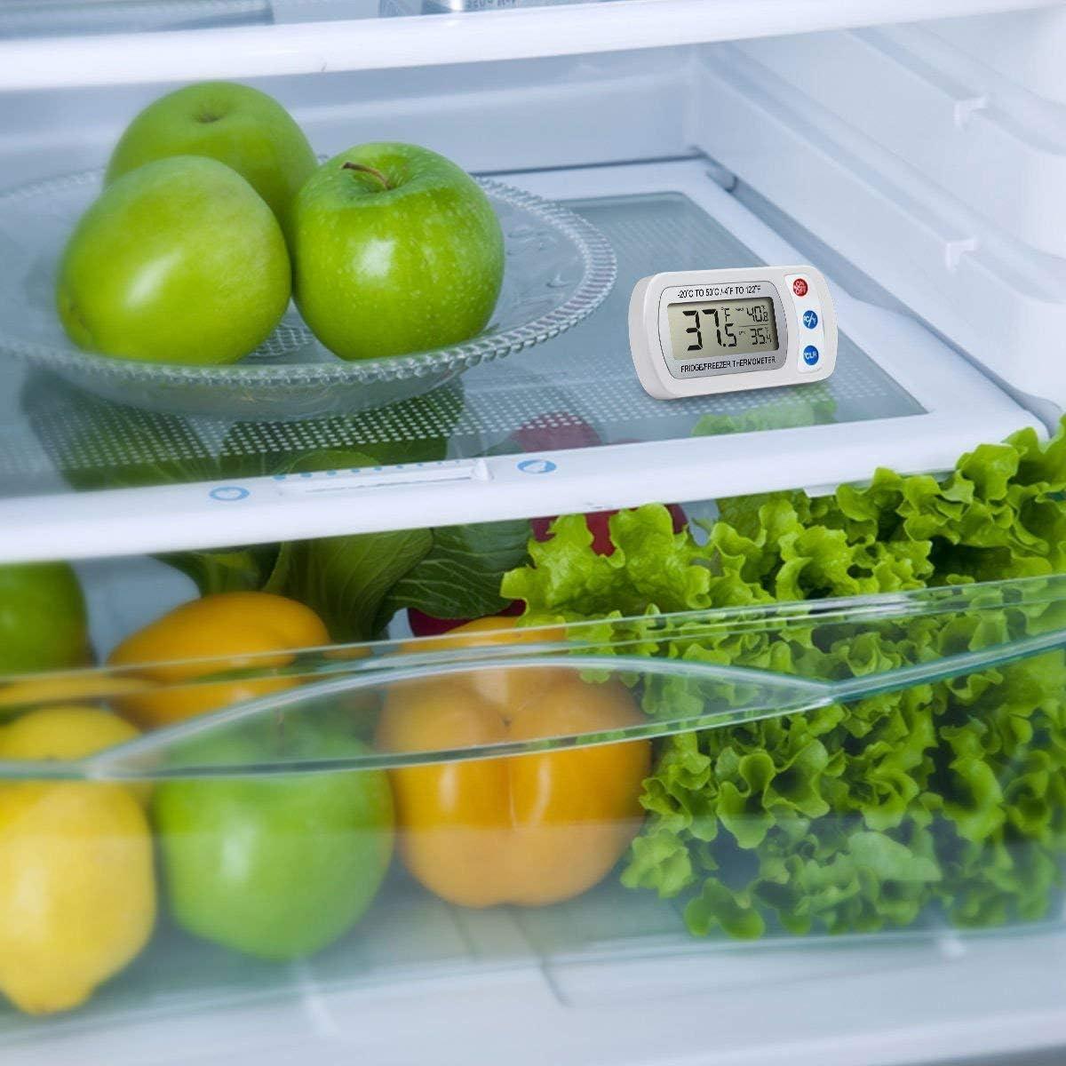 frigorifero display LCD digitale con temperatura massima//min e corrente Gancio e supporto. stanze fredde congelatore Termometro digitale per frigorifero
