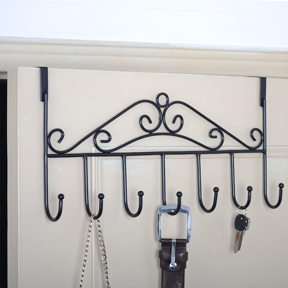 cojoy perchero de la puerta accesorio de –  decorativo Metal Percha Soporte para oficina en casa uso 7 ganchos
