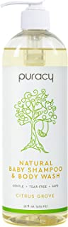 product image for Puracy Natural Baby Shampoo & Body Wash, Tear-Free Soap, Sulfate-Free, Citrus Grove , 16 Fl Oz (Pack of 1)