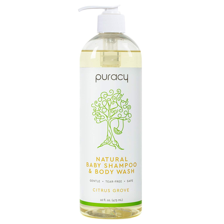 Puracy Natural Shampoo & Body Wash, Plant-Derived Baby Shampoo & Baby Wash, Gentle Soap for Sensitive Skin, Tear-Free, 16 Fl Oz
