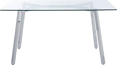 Christopher Knight Home Zavier Tempered Glass Dining Table