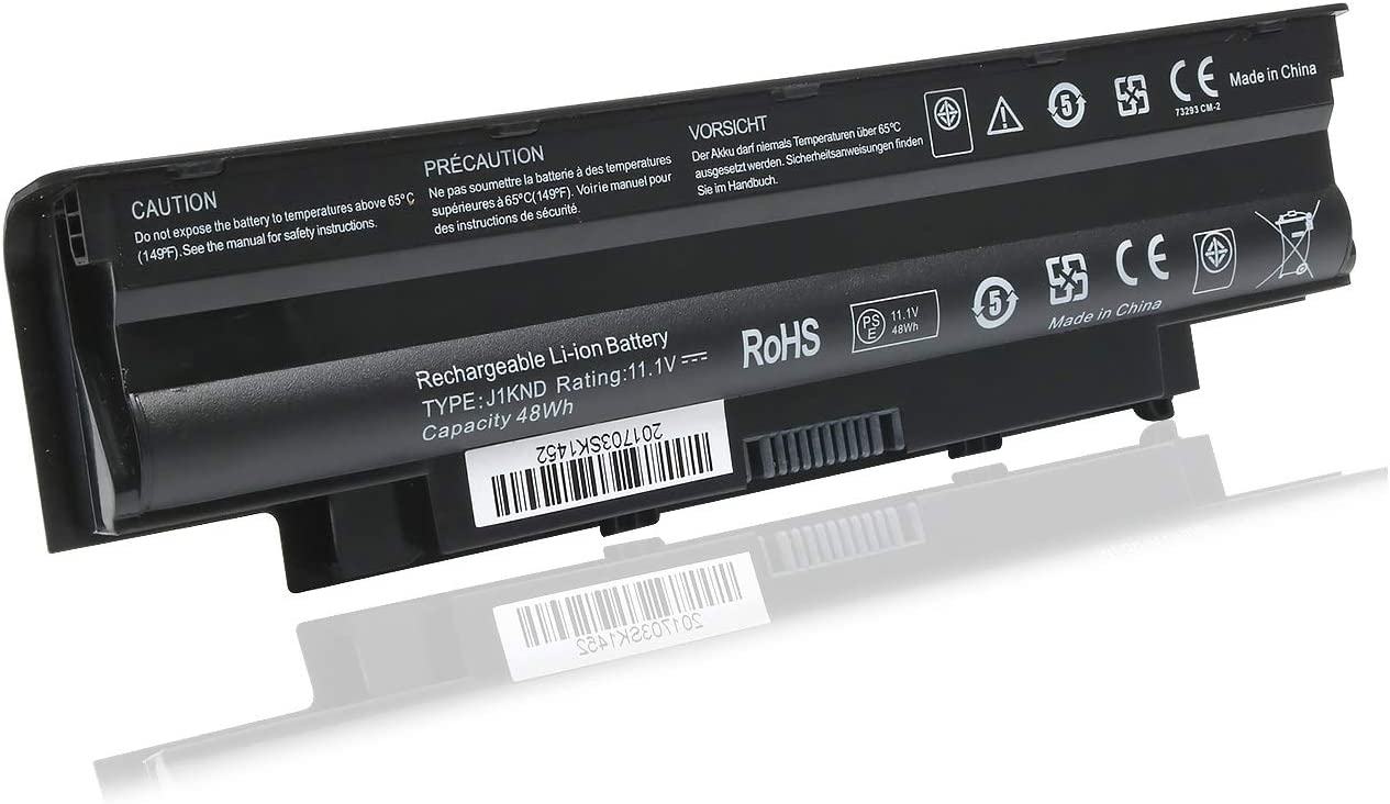 New J1KND Laptop Battery Compatible with Dell Inspiron 13R N3010 N3110 14R N4010 N4110 N4050 15R N5010 N5110 N5030 N5040 N5050 17R N7010 P/N:TKV2V 4T7JN W7H3N 04YRJH 11.1V 48Wh