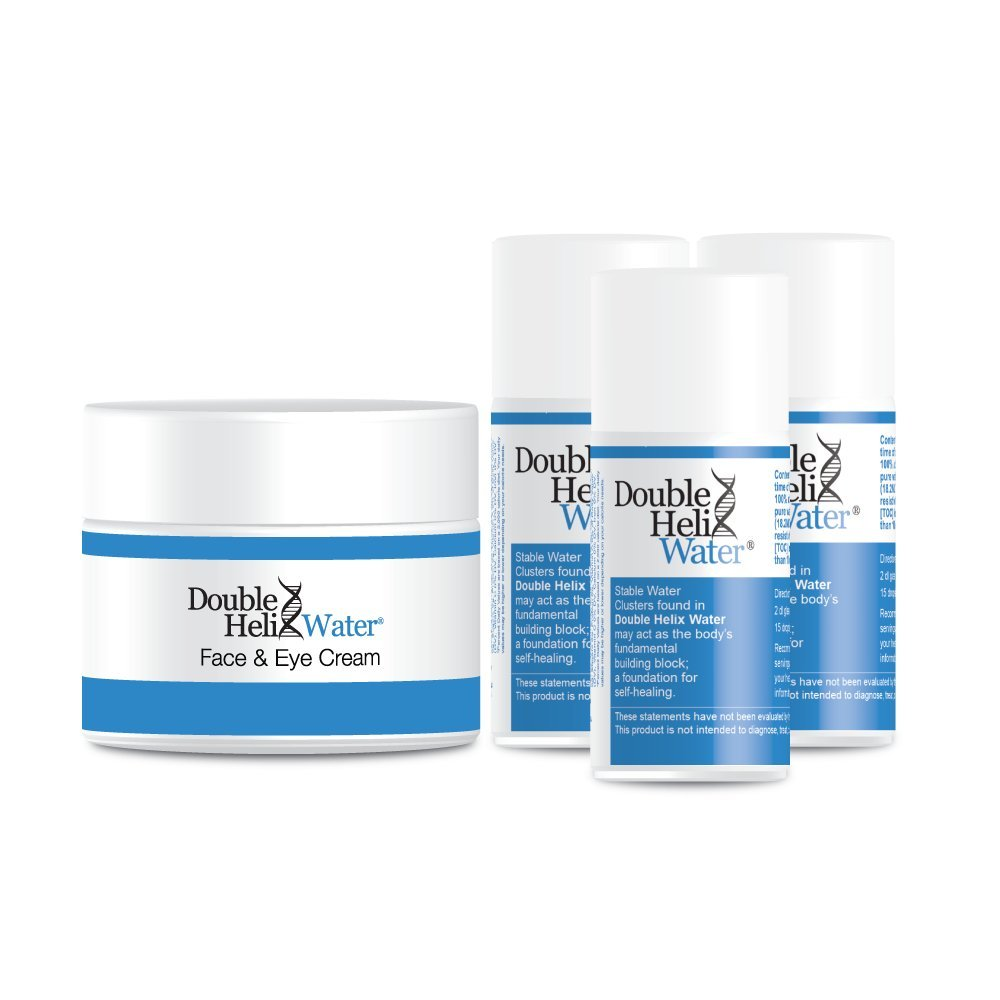 Double Helix Water Pack of Three plus Double Helix Water Face & Eye Cream