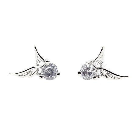 1pair Women Silver Small Earring Waved Leaf Shaped Stud Earrings Lovely Earrings zbYdbOP