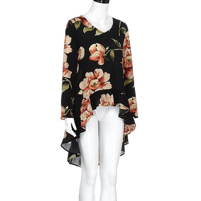 ... de Moda Tres Cuartos Manga impresión Tops Casuales Camiseta Blusas Sueltas Blusa Manga Larga Camisetas Mujer Basicas: Amazon.es: Ropa y accesorios