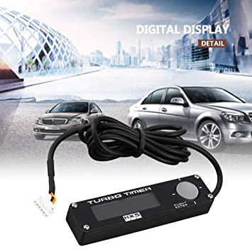 Footprintse Ruedas Coche DC 12V Universal Digital Car Turbo Timer Pantalla LED Boost Timer Controller-