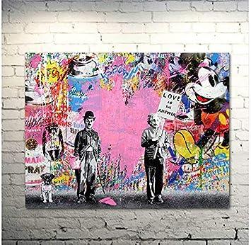 Tableau Toile Murale Graffiti Poster Peinture Murale