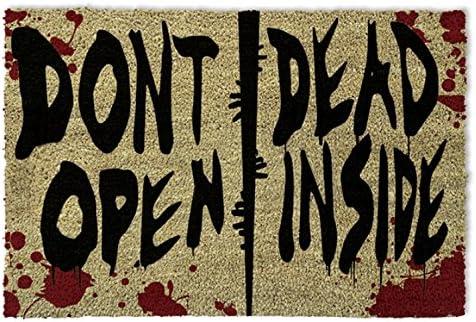1art1 The Walking Dead Door Mat Design Floor Mat – Dont Open, Dead Inside 24 x 16 inches
