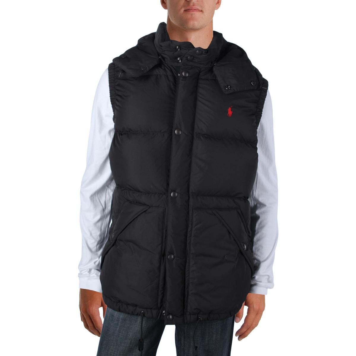 Polo Ralph Lauren Mens Big & Tall Quilted Sleeveless Vest Black XLT by Polo Ralph Lauren