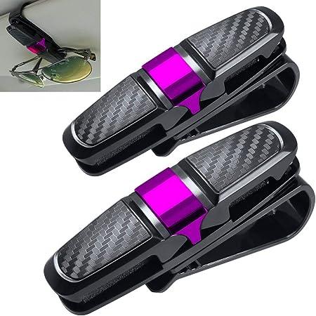 Eufance Brillenhalter Für Auto Sonnenblende 2 Pack Sonnenbrillen Brillen Mit Kartenkarten Clip Zubehör Autozubehör Auto Brillenhalterung Sonnenbrillenhalterung Auto