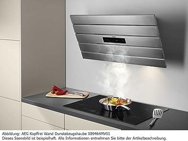 AEG X89474WV01 Kopffrei Wandhaube Campana Color blanco campana extractora de humos: Amazon.es: Grandes electrodomésticos