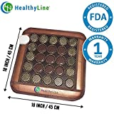 HealthyLine Far Infrared Heating Pad - Relieve Sore Muscles, Joint & Arthritis Pain - 18''x18''(Firm) - Negative Ions - Jade & Tourmaline Stones - No EMF - US FDA