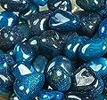 Royal Sapphire River Rocks, Pebbles, Outdoor Decorative Stones, Natural Gravel, For Aquariums, Landscaping, Vase Fillers, Succulent, Tillandsia, Cactus pot, Terrarium Plants, 4.5 LB. (72-Oz).