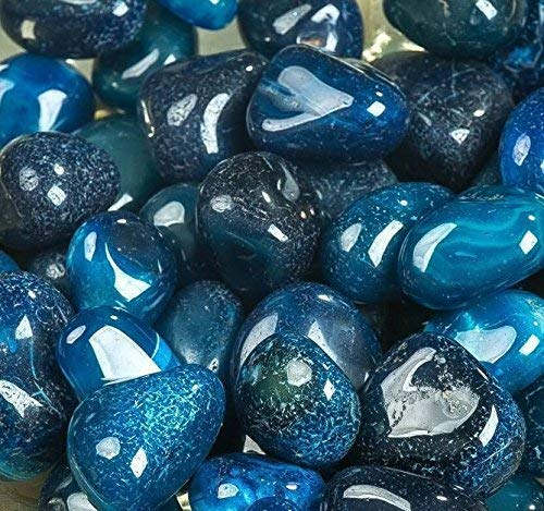 Royal Sapphire River Rocks, Pebbles, Outdoor Decorative Stones, Natural Gravel, For Aquariums, Landscaping, Vase Fillers, Succulent, Tillandsia, Cactus pot, Terrarium Plants, 4.5 LB. (72-Oz).