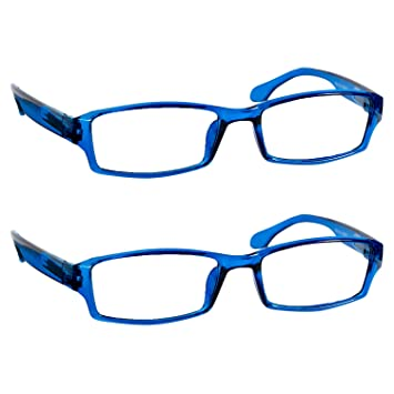 e6d230295a97 Reading Glasses 3.75 Blue (2 Pack) Best Readers for Men and Women - Stylish