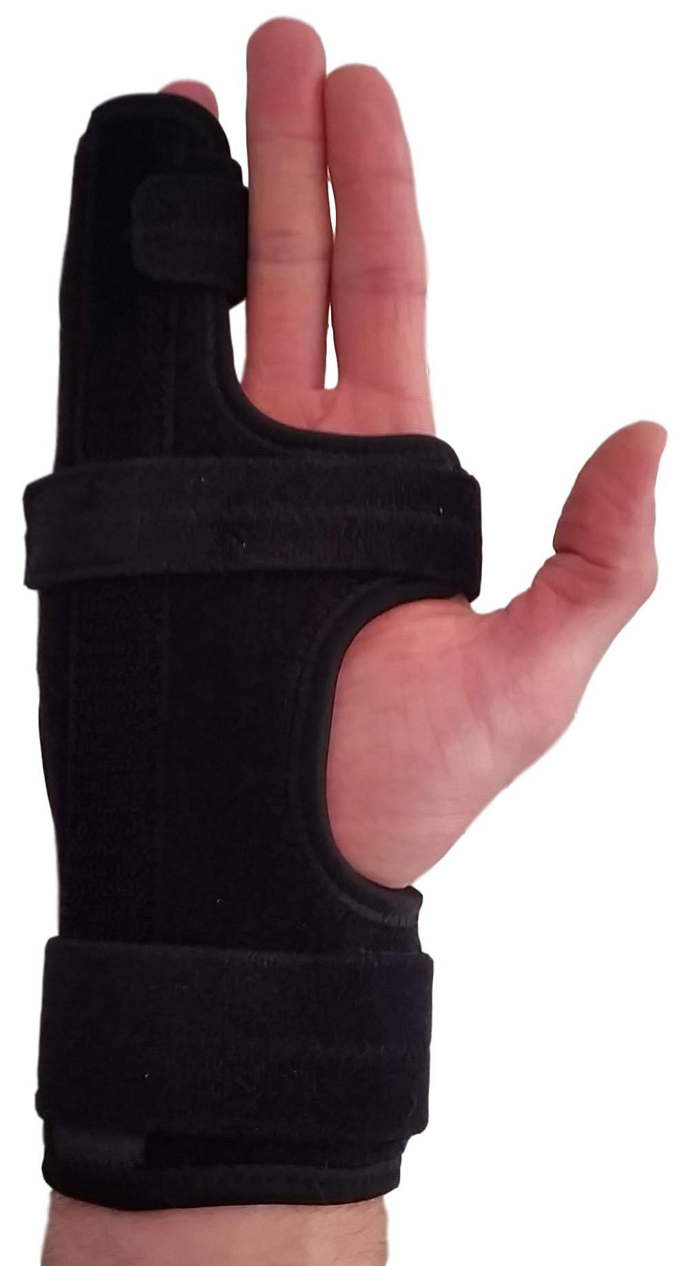 Metacarpal Finger Splint Hand Brace - Hand Brace & Metacarpal Support for Broken Fingers, Wrist & Hand Injuries or Little Finger Fracture (Right - Small/Med)
