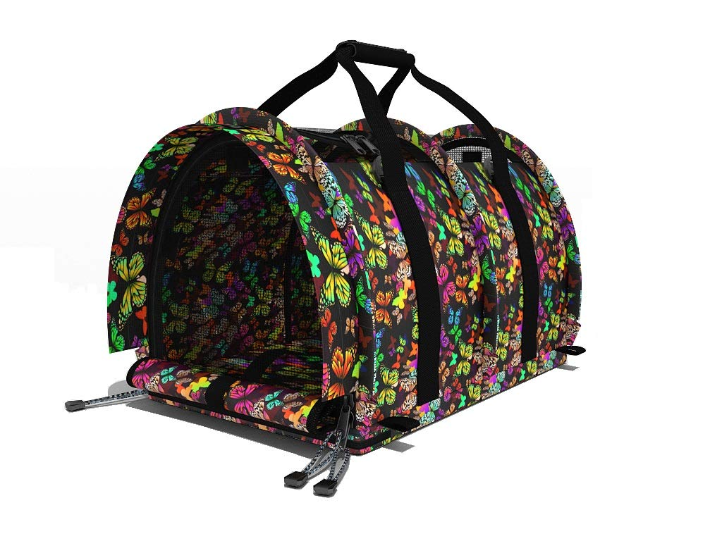 SturdiBag Large Pet Carrier (Butterflies)