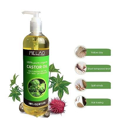 Masaje Aceite Esencial – Natural orgánico 100% puro y natural aceite de ricino, promueve