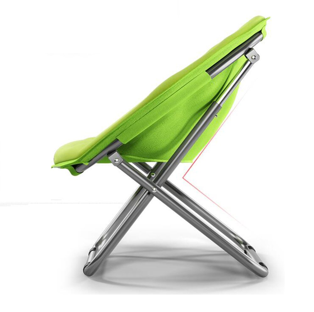Washable folding chair//Adult Moon Chair//Sun Chair//Lazy Chair//Sun Lounger//folding chair//Round Chair//Sofa Chair//Solid Color Home folding chair//Lazy Couch // Color : Navy Blue