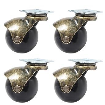 Ruedas giratorias de 5 cm para ruedas giratorias de 360 grados con capucha para muebles,