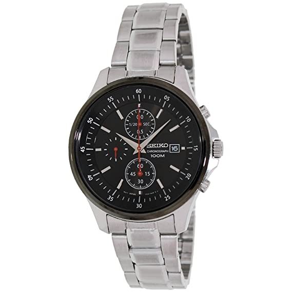 Seiko SNDE27P1 - Reloj, correa de acero inoxidable color plateado