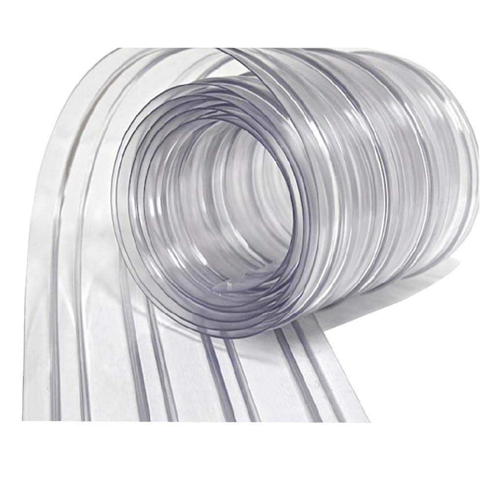 Resilia - Plastic Vinyl Strip Curtain for Walk In Freezers, Coolers & Warehouse Doors - Clear, 80 mil Thick, 8 Inch x 150 Foot Roll by Resilia
