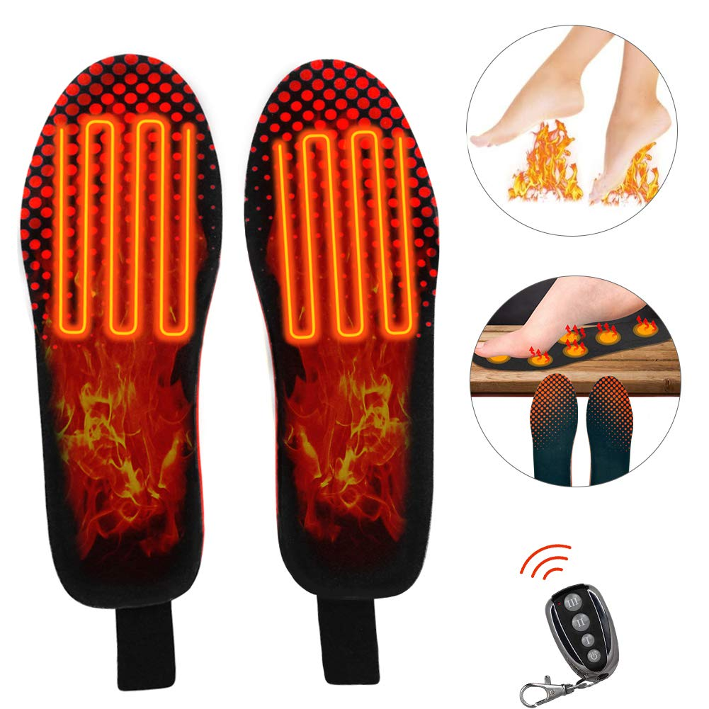 upstartech Heated Insole Wireless Foot Warmer Electric Heated Heated Shoes Insoles Foot Warmer Multiple Sizes for Women Men Winter Outdoor Hunting/Fishing/Shoveling Snow by upstartech
