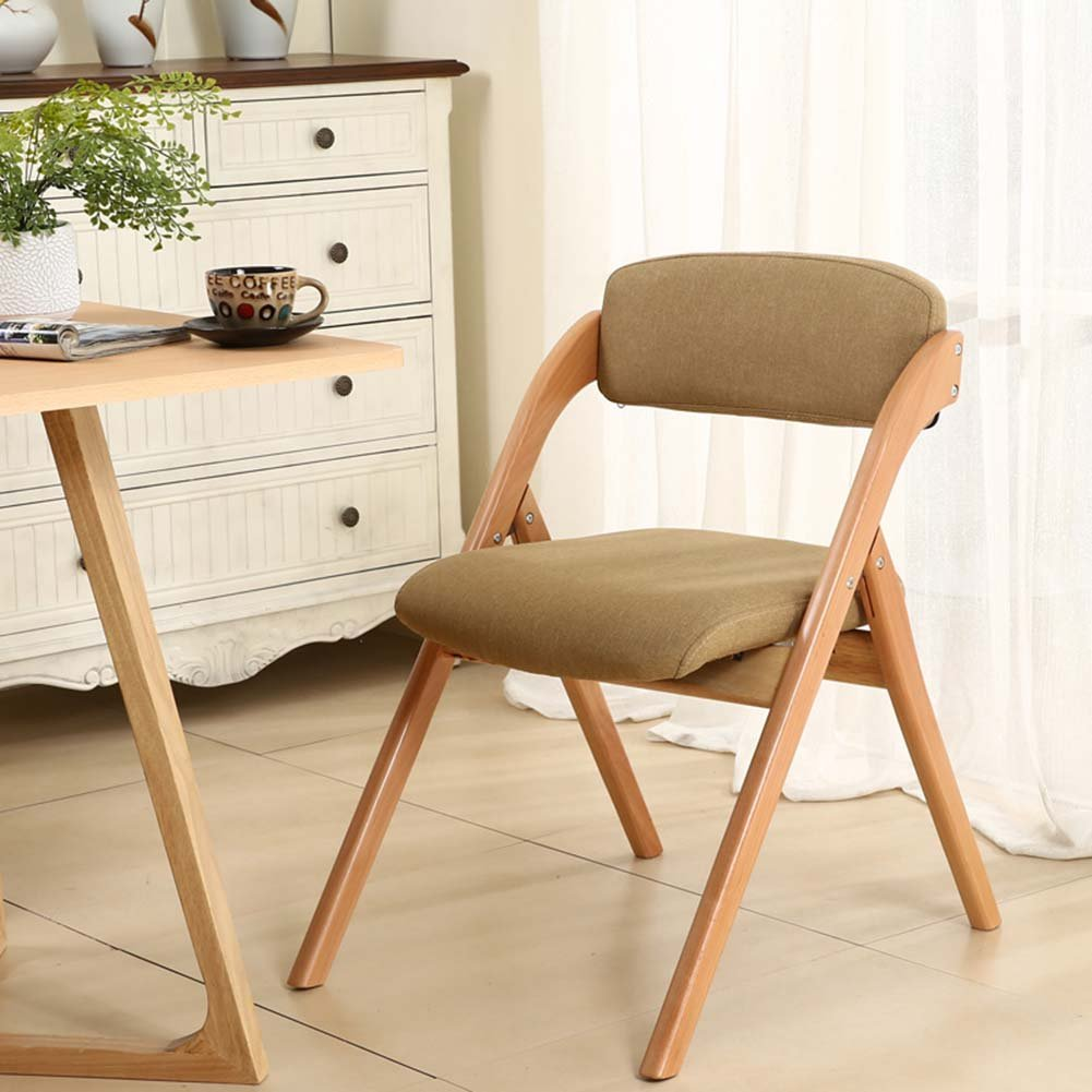 ZEMIN ダイニングチェア椅子の木の木製折り畳み 椅子 スツール シート ラダー 表 折畳み式 木製 バックレスト ソリッドウッド パッド入り 多機能、 5色使用可能、 52x63x76CM ( 色 : #2 ) B078RN835S#2