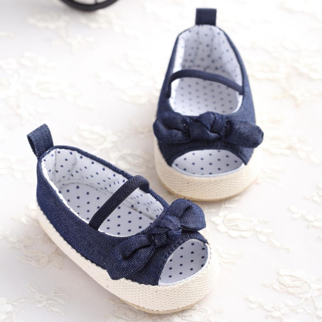 Bebé Prewalker Zapatos Xinantime primeros pasos para bebé-niñas, Sandalias de suela blanda Baby, sandalias de bowknot para 0-6 6-12 12-18 meses (0-6 meses, ...