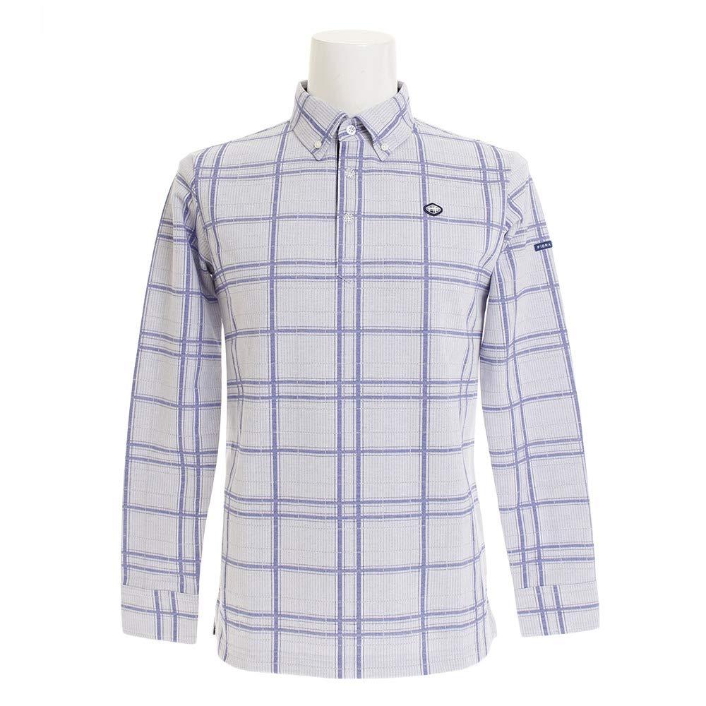 フィドラ(フィドラ) チェックシャツ FI38TG24 WH/NVY LL ホワイト×ネイビー B07JMYLNHM